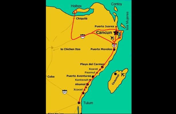 Ubicación. Con el mapa nos damos cuenta de la ubicación de la isla Holbox.