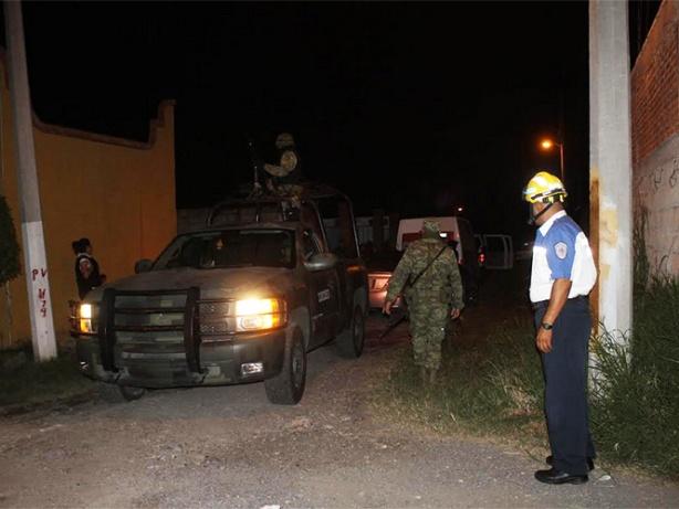 Aspecto de la escena en la que murió Benjamín Mondragón, líder del grupo delictivo 'Guerreros Unidos'.