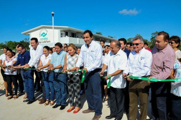Con el apoyo de Roberto Borge Angulo, tras 30 años por fin el Conalep de Felipe Carrilo Puerto cuenta con instalaciones propias.